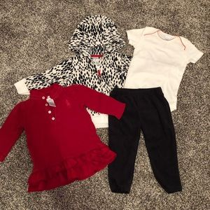 Sweet Fall-to-Winter baby girl bundle